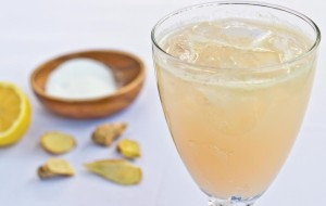 ginger lemon spritzer