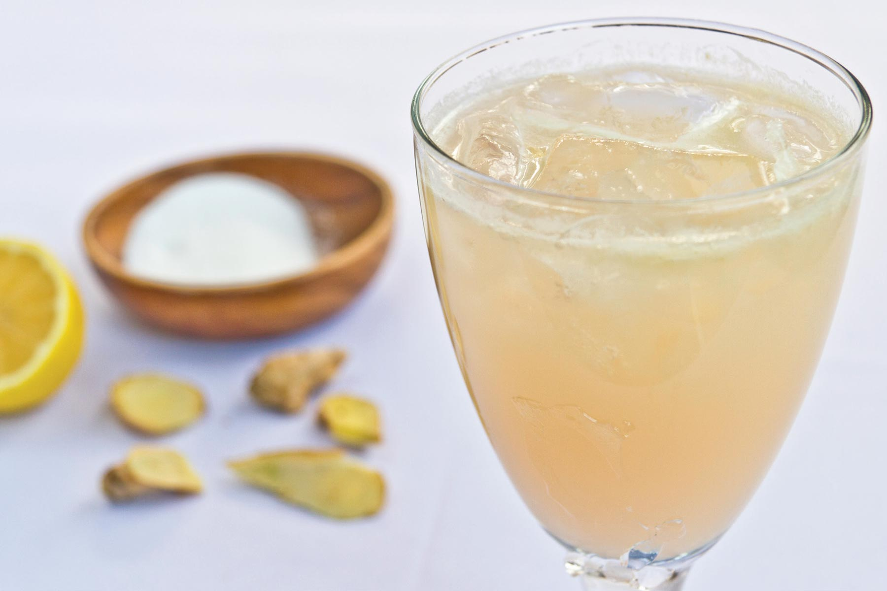 This Ginger-Lemon Spritzer recipe is Ornish Lifestyle Medicine™ Approved and posted by Sentara Healthcare in Hampton Roads