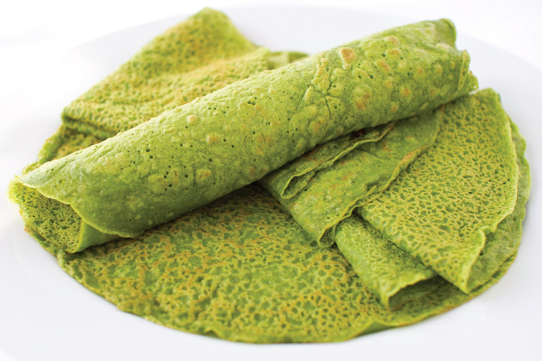 light spinach crepes