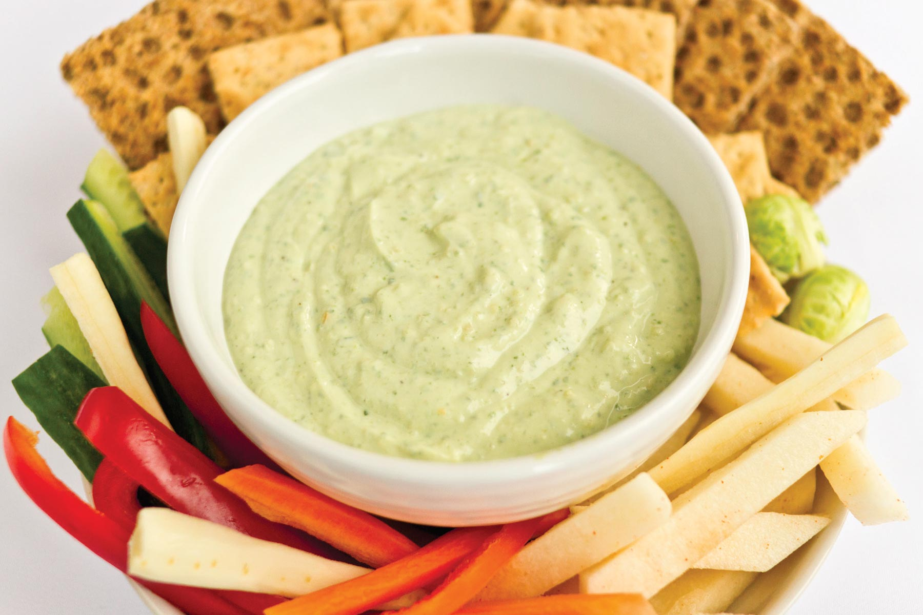 This Savory Lemon Dip recipe is Ornish Lifestyle Medicine™ Approved and posted by Sentara Healthcare in Hampton Roads