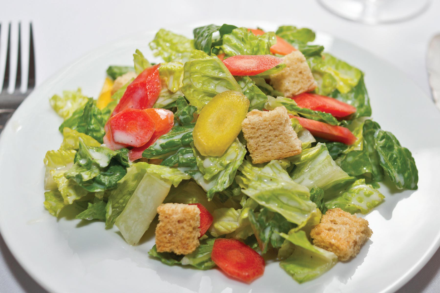 This Vegan Caesar Salad recipe is Ornish Lifestyle Medicine™ Approved and posted by Sentara Healthcare in Hampton Roads