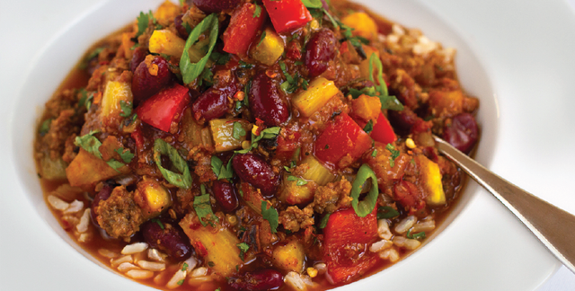 This Hawaiian-Style Chili recipe is Ornish Lifestyle Medicine™ Approved and posted by Sentara Healthcare in Hampton Roads