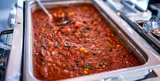 Three bean chili recipe from Sentara Healthcare's Nutrition as Medicine event in Hampton Roads